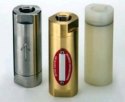 Pumps use airbleed priming valves to relieve trapped vapors.