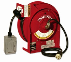 Power Cord Reel eliminates need for long extension cords.