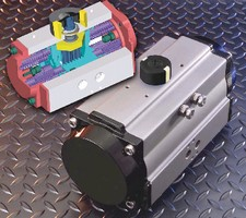 Pneumatic Actuator features corrosion-resistant components.
