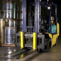 Cushions act as cargo bumper system for forklift trucks.