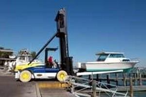 Marina Lift Trucks have capacity range from 15,000-52,000 lb.