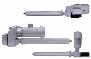 Electric Cylinders offer capacities up to 25 tons.