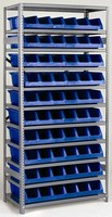 Single-Piece Storage Unit has 6 large compartments.