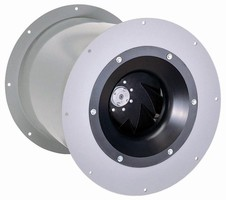Centrifugal Fan features in-line design.