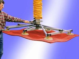 Vacuum Lifter handles flimsy materials.