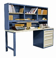 Workbench suits shipping/receiving departments.