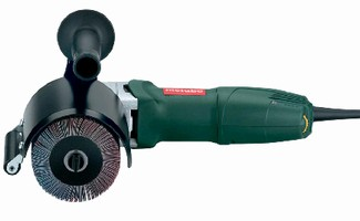 Burnisher features electronic speed stabilization.