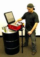 Disposal System processes aerosol cans.