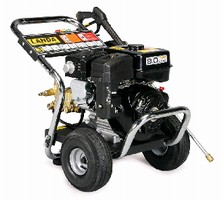 Pressure Washer features 9 hp Subaru EX27 engine.