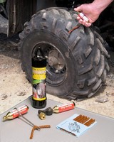 Tire Repair Kit helps permanently fix small tires.