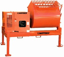 Stationary Hydraulic Mixer offers 12 cubic-foot capacity.