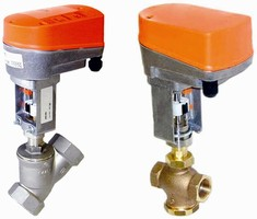 Motorized Control Valves have integrated linear actuators.