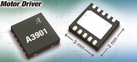 Motor Driver suits portable applications.