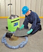 Spill Kit helps clean up non-aggressive liquids.