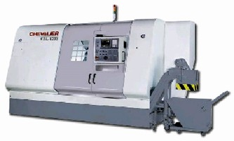 Slant Bed Lathe features 35 hp ac digital spindle motor.