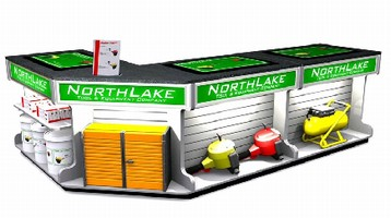 Modular Sales Counter withstands harsh retail conditions.