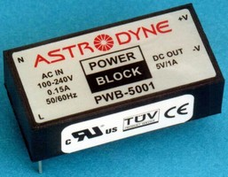 Switching Power Supplies provide up to 5 or 10 W output.