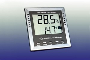 Monitor displays dew-point, wet-bulb, humidity, and temperature.