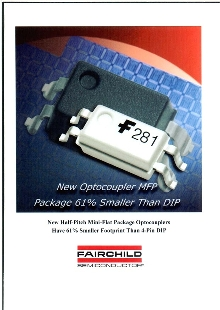 Optocouplers are available in tape and reel configuration.