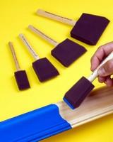 Foam Paint Brushes produce smooth, uniform finish.