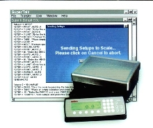 Weighing Software edits set-up information.
