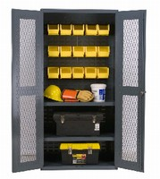 Storage Cabinets offer 3 interior configurations.