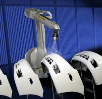 Robot coats consumer and automotive products.