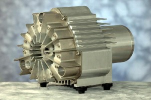 Vacuum Pump/Compressor delivers 80+% volumetric efficiency.
