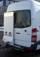 External Lift Gate aids in loading/unloading Sprinter Vans.