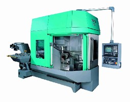 Vertical Machining Center combines turning and grinding.