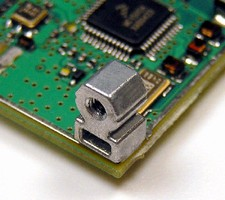 Fasteners create right-angle attachment points on PCBs.