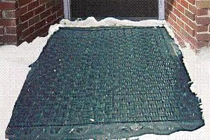 Heated Floor Mat eliminates snow, ice, and water worries.