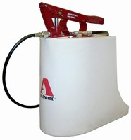 Manual Bucket Pump has lightweight plastic design.
