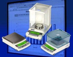 Precision Balances include built-in software.