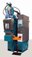 Injection Press molds thermoplastic elastomer compounds.