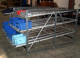 Flow Rack System features tool-less adjustable shelves.