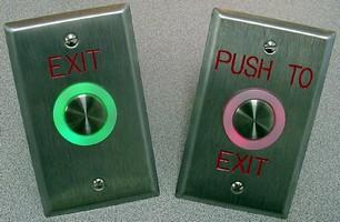 Illuminated Piezo Switches suit door control applications.