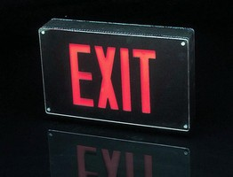 LED Exit Signs are vandal resistant.