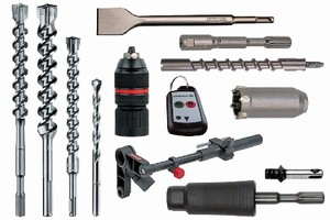 Rotary Hammers offer range of accessories.