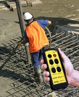 Radio Remote Control facilitates concrete pumping.