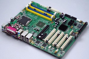 Industrial ATX Motherboard utilizes dual-core processors.