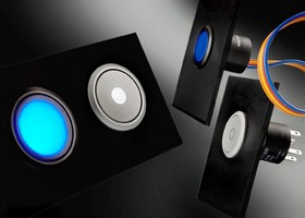 Pushbutton Switches offer blue and white illumination options.