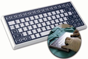 Keyboard suits military, industrial, and medical use.