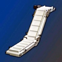Variable-Shape Conveyor offers 30, 45, and 60° angles.