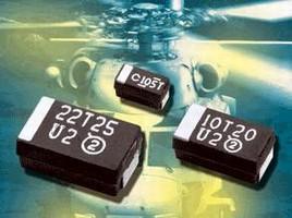 Tantalum Capacitors offer standard or low-ESR values.