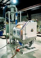 Pressure Blast Cabinet adjusts to fit any operator.