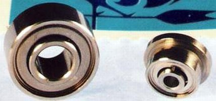 Extended Inner Ring Ball Bearings come plain or flanged.