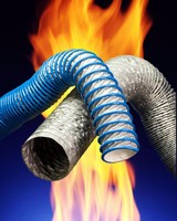 High-Temperature Hose is flexible and compressible.