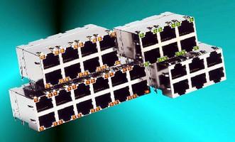 RJ-45 Connectors suit small form factor, 1 GHz applications.