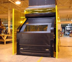 Barrier Door solves safety concerns such as weld flash.
